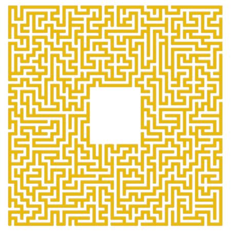 hardship: Labyrinth Isolated on White Background. Kids Maze Illustration
