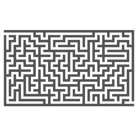 Labyrinth Isolated on White Background. Kids Maze Illustration