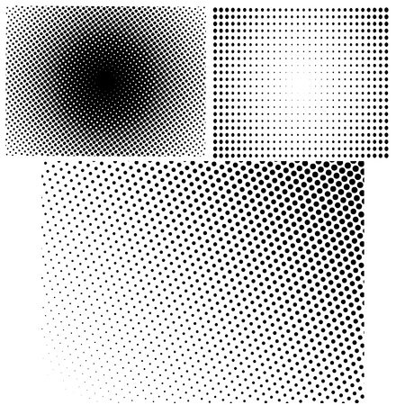 Halftone Patterns. Set of  Halftone Dots.  Dots on White Background. Halftone Texture. Halftone Dots. Halftone Effect.