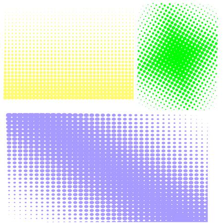 gradation art: Halftone Patterns. Set of  Halftone Dots.  Dots on White Background. Halftone Texture. Halftone Dots. Halftone Effect.