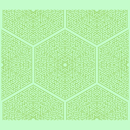 Labyrinth Isolated on Green Background. Kids Maze