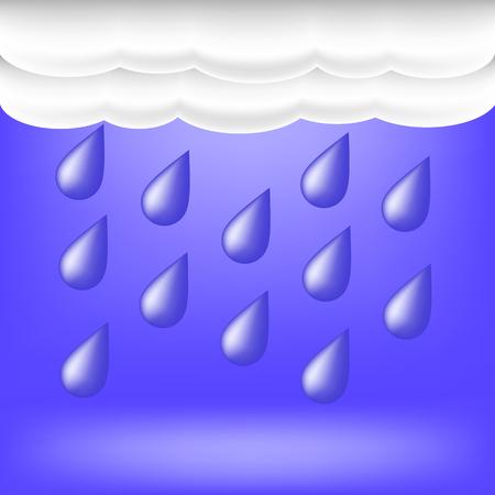 nimbus: Rainy Weather. Raindrops Falling on the Ground.Autumn Clouds.