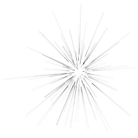 burst background: Big Burst Isolated on White Background. Explosion of Star Stock Photo