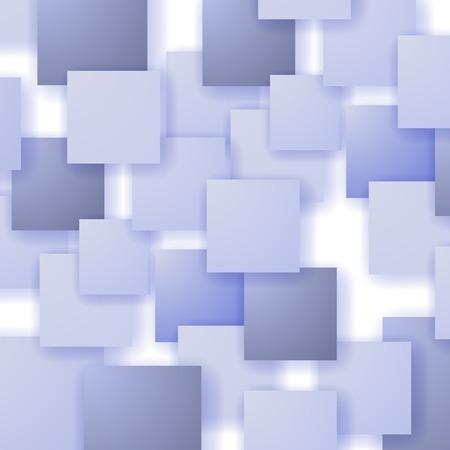 distort: Square Blank Background. Set of Blue Squares. Squares Pattern