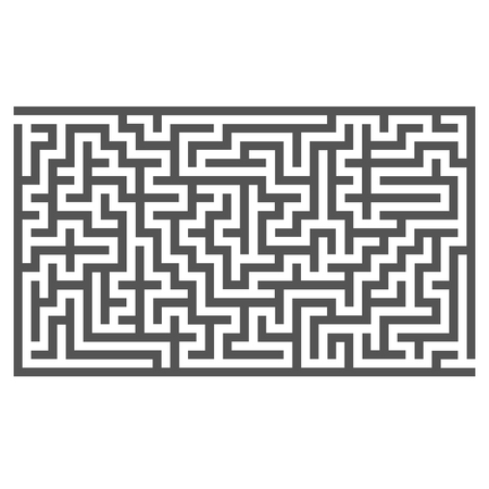 leading the way: Labyrinth Isolated on White Background. Kids Maze Stock Photo