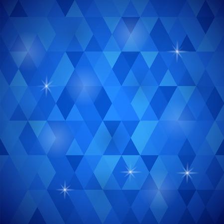 Abstract Blue Background. Blue Geometric Retro Mosaic Pattern