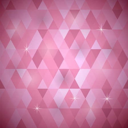Abstract Pink Background. Pink Geometric Retro Mosaic Pattern