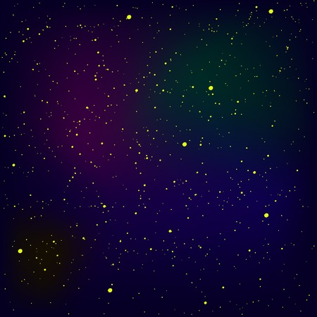 Set of Yellow Stars Isolated on Blue Sky Background. Stars Background. Milky Way