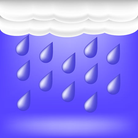 rainwater: Rainy Weather. Raindrops Falling on the Ground.Autumn Clouds.