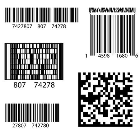 codigo de barras: Producto de etiquetas de código de barras 2D Plaza. Ejemplo de código QR Listo para digitalizar con el teléfono elegante
