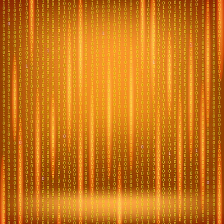 encoding: Binary Code Red Background. Concept Binary Code Numbers. Algorithm Binary, Data Code, Decryption and Encoding. Illustration