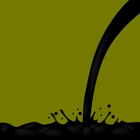 chemical spill: Oil Splash on Dark Green Background. Oil Droplets. Oil Splatter