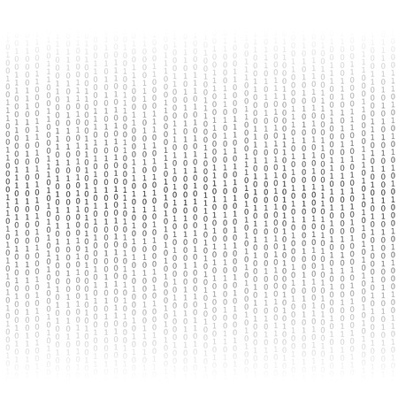 decryption: Binary Code Background. Concept Binary Code Numbers. Algorithm Binary, Data Code, Decryption and Encoding.
