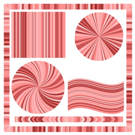 suprise: Pink Frame and Circles Isolated on White Background