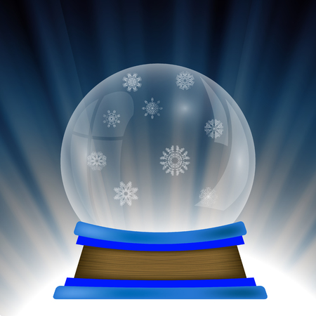 augur: Empty Snow Globe Isolated on Blue Wave Background