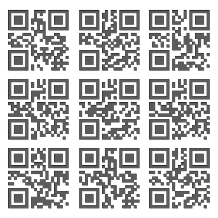 barcode scan: Product Barcode 2d Square Label. Sample QR Code Ready to Scan with Smart Phone