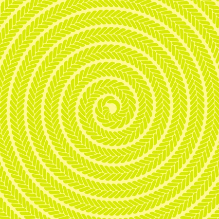 Abstract Yellow Spiral Pattern. Abstract Yellow Spiral Background