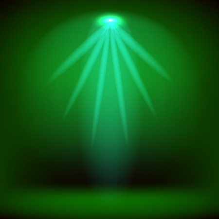 award lit: Spotlight Isolated on Green Background.Stage Spotlight Background