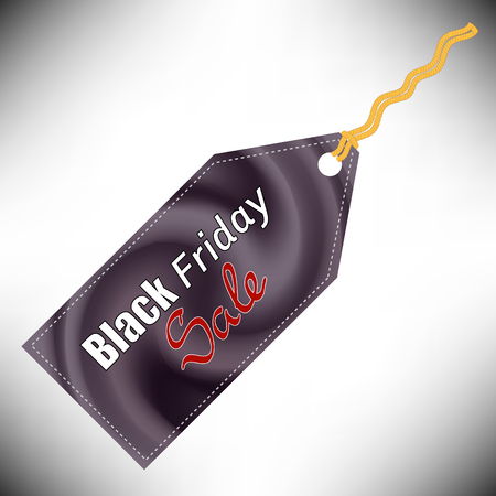 Dark Sticker Isolated on Grey Background. Black Fridays Label. Banco de Imagens
