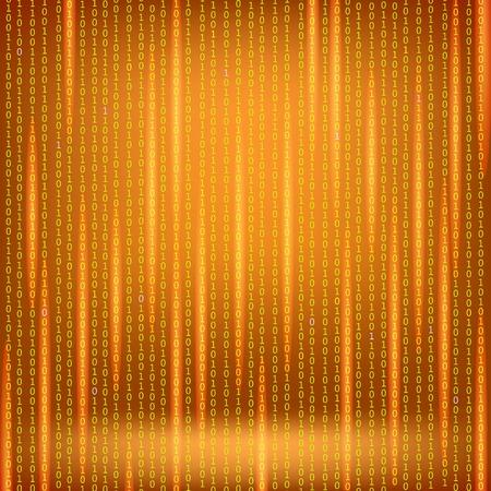 numerical code: Binary Code Red Background. Stock Photo