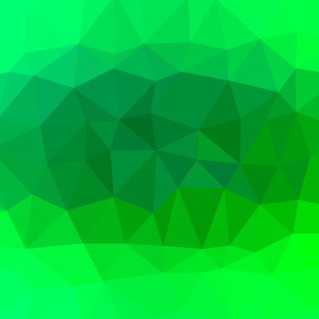 green background: Mosaic Green Background. Abstract Polygonal Green Pattern