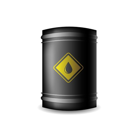 metal barrel: Metal Oil Barrel Isolated on White Background
