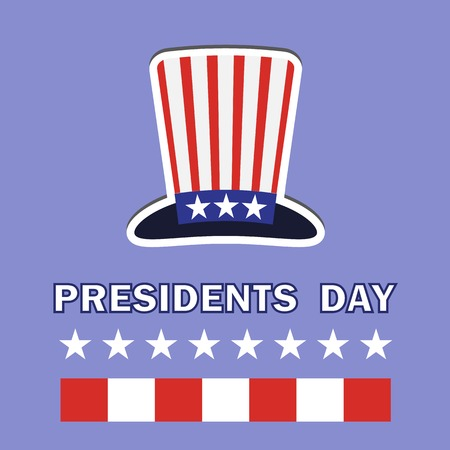 presidents day: Presidents Day Icon Isolated on Blue Background