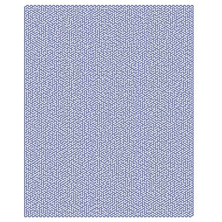 impenetrable: Blue Hexagonal Labyrinph Isolated on White Background. Impenetrable Blue Kids Maze