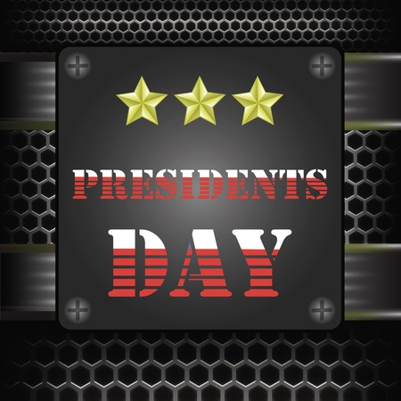 presidents: Presidents Icon on Dark Grid Metal Background