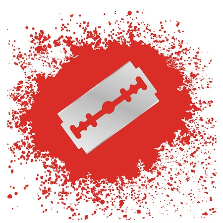 blade: Blade Icon Isolated on Red Drops Background