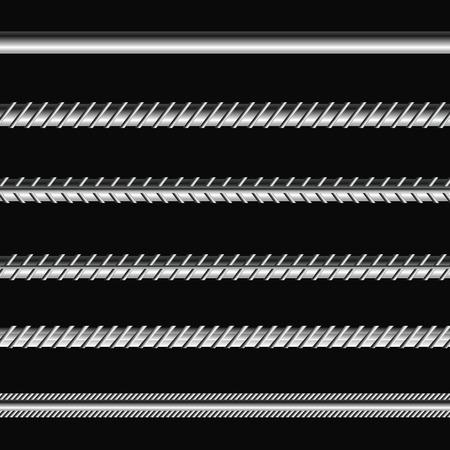 Bau Anker auf schwarzem Hintergrund. Verschiedene Metalic Bars