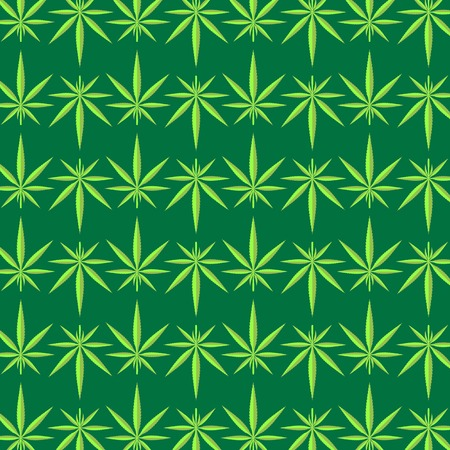 tetrahydrocannabinol: Green Cannabis Leaves Background. Green Marijuana Pattern Stock Photo
