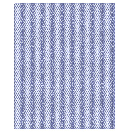 leading the way: Blue Hexagonal Labyrinph Isolated on White Background. Impenetrable Blue Kids Maze