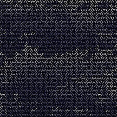 leading the way: Blue Labyrinth on Black Background. Kids Maze