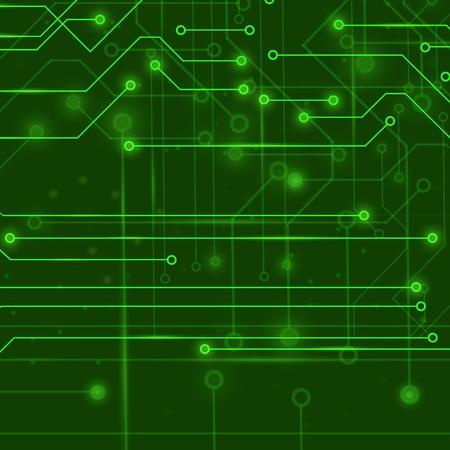 Modern Computer Technology Background. Circuit Board Pattern ...