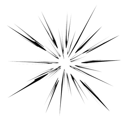 blasting: Explode Flash, Cartoon Explosion, Star Burst Isolated on White Background