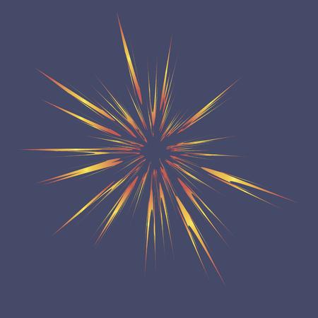 blasting: Explode Flash, Cartoon Explosion, Star Burst Isolated on Blue Sky Background
