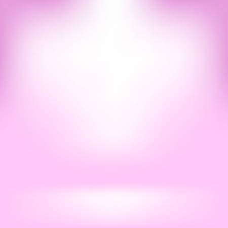 spacious: Empty Studio. Light Pink Abstract Background with Radial Gradient Effect. Spotlights Blurred Background. Flat Wall and Floor in Empty Spacious Room Interior for Your Products