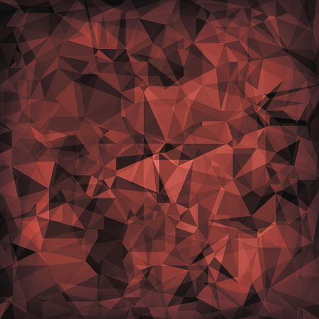 crystal background: Red Polygonal Background. Red Crystal Triangle Pattern Stock Photo