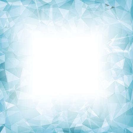 azure: Azure Polygonal Background. Azure Crystal Triangle Pattern