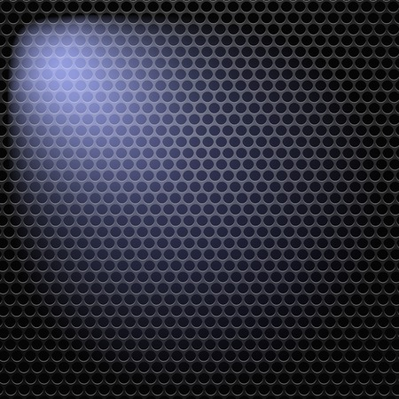 perforated: Dark Iron Perforated Background. Abstract Circle Pattern.