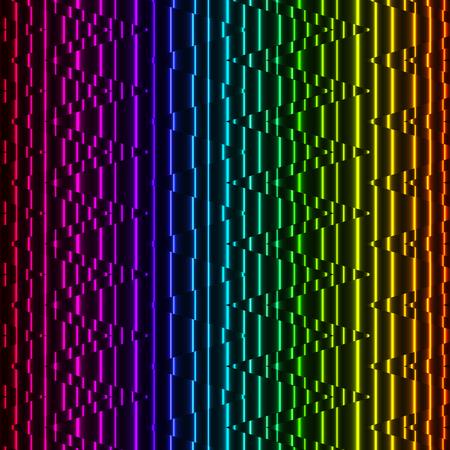 Bright fond Lines Neon. Motif abstrait néon coloré. Vecteurs