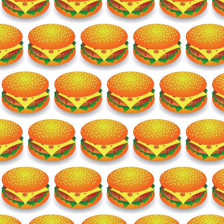 ground beef: Fast Food Pattern. Fresh Hamburger Background. Fast Food Background.