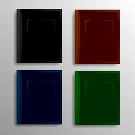 electronic publishing: Set of Different Book Icons Isolated on Grey Background Illustration