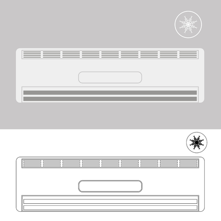motorised: Wall-mounted Air Conditioner. Air Purifier. Air Conditioner on the Wall.
