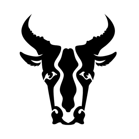 persistence: Bull Head Silhouette Isolated on White Background. Bull Icon. Bull Logo. Bull Head. Bull Front View. Bull Horns. Bull Silhouette. Bull Icon App.
