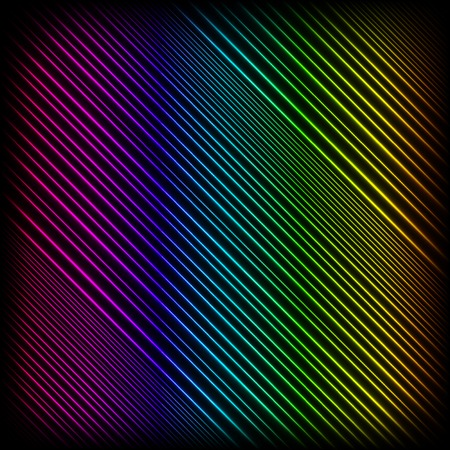 flux: Bright Neon Lines Background. Abstract Colorful Neon Pattern. Colorful Neon Pattern. Striped Neon Diagonal Background. Stock Photo