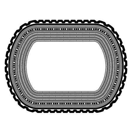 Decorative Vintage Frame Isolated on White Background Illustration