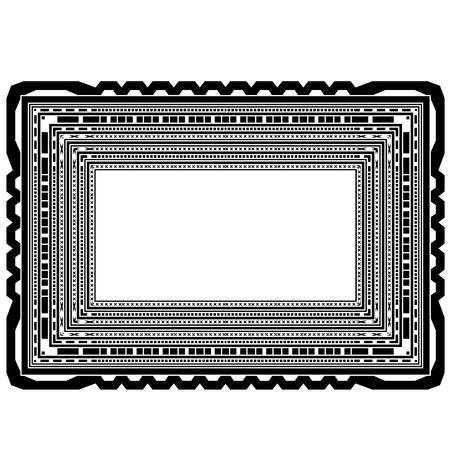 Rectangular Decorative Frame Isolated on White Background