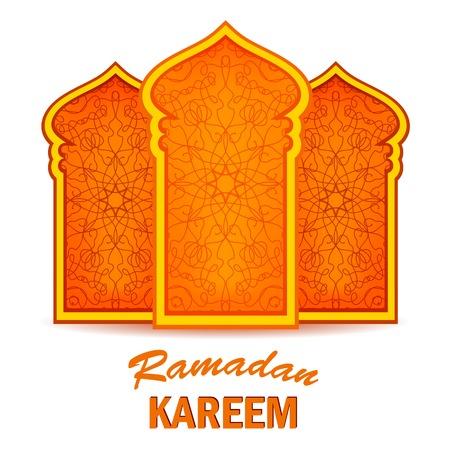 greeting card background: Ramadan Greeting Card on White Background. Ramadan Kareem Holiday. Illustration